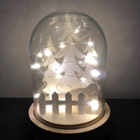 Light Glass Dome - Winter Forest 17cm