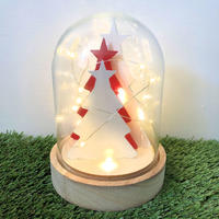 Light Glass Dome - Christmas Trees 17cm