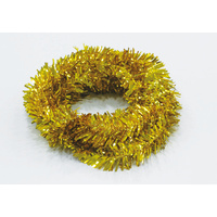 Wired PVC Tinsel Gold 5m