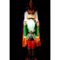 Nutcracker Green/Red 72cm