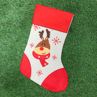 Reindeer Red Vintage Stocking 47cm