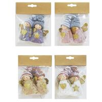 Angel Glitter Hanging Deco 2pack