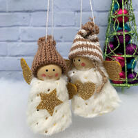 Angel Hanging Deco 2 pc - Snow White