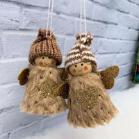 Angel Hanging Deco 2 pc - Natural