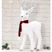 Plush Reindeer 80cm Red Scarf