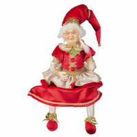 Lucinda Eldin Traditional Mrs Claus Sitting