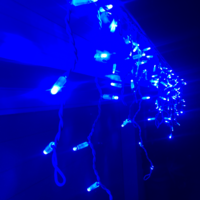 Icicle Lights BLUE 4.8m Extendable