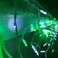 Icicle Lights GREEN/WHITE 4.8m Extendable