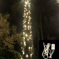 String Lights WARM WHITE 10m Green wire with Controller