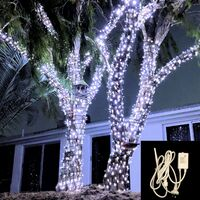 String Lights COOL WHITE 10m Green wire with Controller