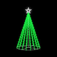 3D LED Christmas Tree GREEN 1.3m