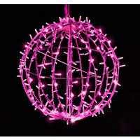 3D Sparkle Ball String Light 50cm Pink