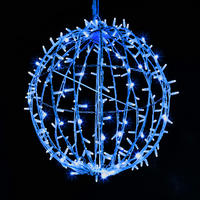 3D Sparkle Ball String Light 80cm Blue