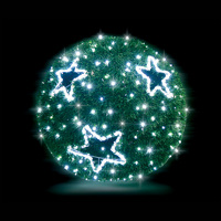 3D Green Garland Ball 50cm Cool White