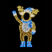 Father Reindeer Photo Op Stand-In 2.1m LED