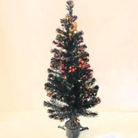 Christmas Tree Black Fibre Optic Lights 1.5m