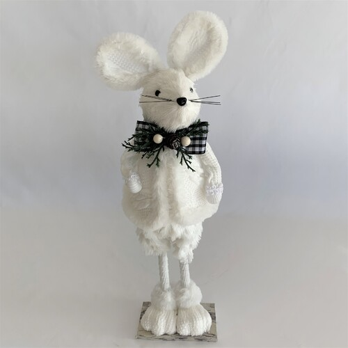 Mouse Standing White 39cm