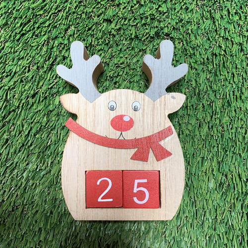 Table Countdown Reindeer 15cm