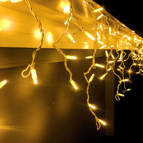 Icicle Lights WARM WHITE 4.8m