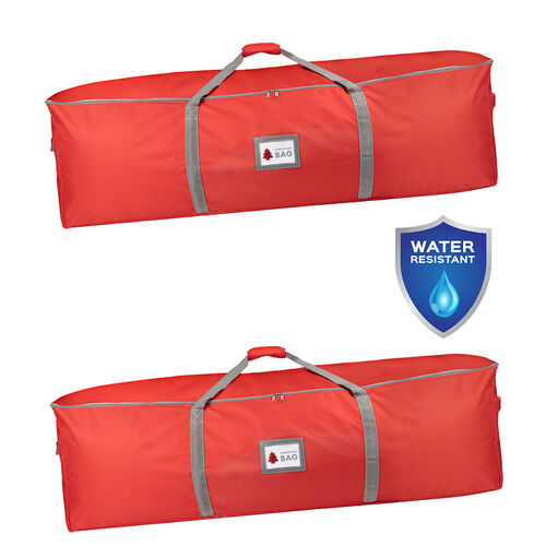 Christmas Tree Storage Bags 1.3m x 40cm x 40cm RED TWO BAGS